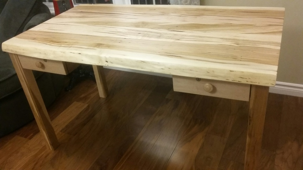 Wormy Maple Live Edge Desk