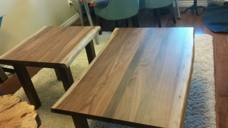 Black Walnut Coffee and End Table