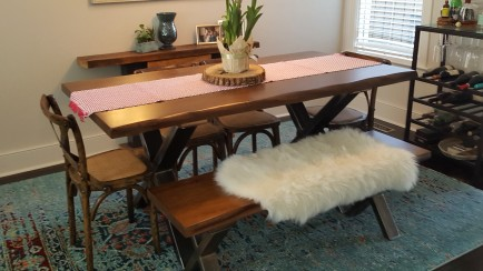 Chestnut Table and Bench
